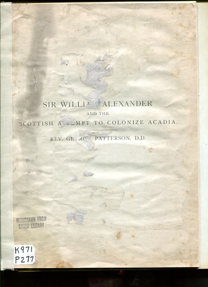 Image for Sir William Alexander and the Scottish Attempt to Colonize Acadia.