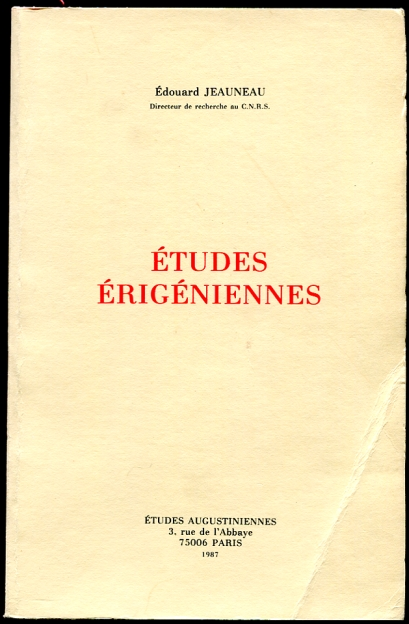 Image for Etudes Erigeniennes