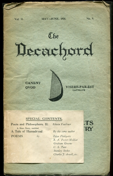 Image for The Decachord. Vol. II. May-June 1926. No. 9 A Magazine for Poets & Students of Poetry
