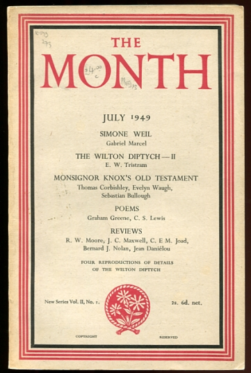 Image for The Month July 1949 New Series Vol. II, No I