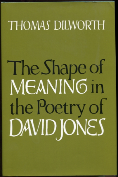 Image for The Shape of Meaning in the Poetry of David Jones