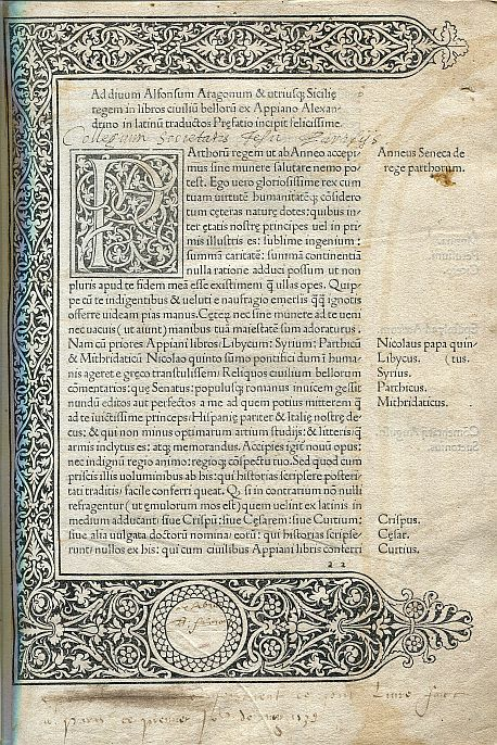 Image for Historia Romana, Part II De Bellis Civilibus Incunabula