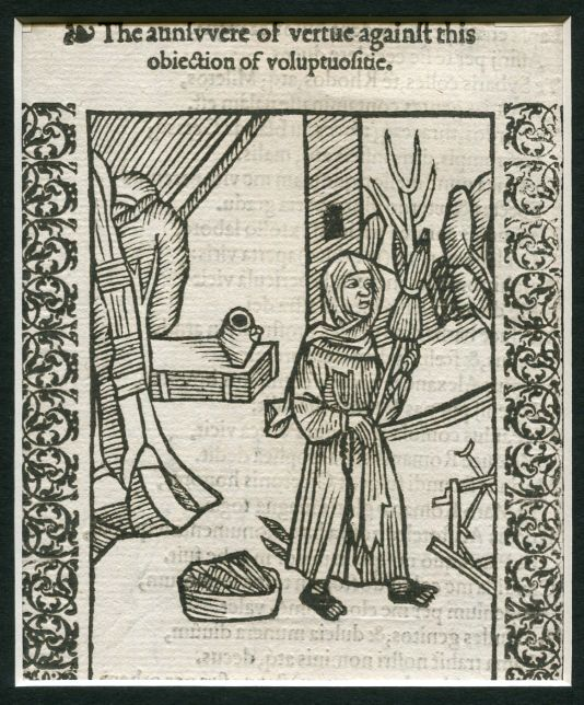 Image for WOODCUT: Ship of Fools: Annivvere of Vertue:  Stultifera Navis: The Ship of fooles: wherein is shewed the folly of all states…translated out of Latin into Englishe  Matted original woodcut