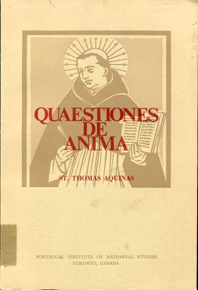 Image for QUAESTIONES DE ANIMA A Newly Established Edition of the Latin Text